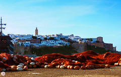 Kasbah Oudaya (A.B.S Graph) Tags: marinabouregragrabatsaleeauoceanmerbateaushipboat maroc morocco rabat oued rivier sea coast boat ship peche filet oudaya kasbah