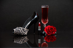 Remember that night ...... (Chandana Witharanage) Tags: srilanka southasia stilllife stilllifephotography tabletop wineglass wine shoe highheel rose redrose redlipstick aftertheparty crystal crystalglasses composition arrangement creativephotography background blackbackground 7dwf crazytuesdaythemeshoes