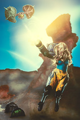 Samus Aran (Metroid) by Gunter Cosplay (rubenfcid) Tags: samusaran metroid nintendo guntercosplay videogame cosplayer cosplay montage photomontage space fantasy portrait girl woman scifi scienceficion