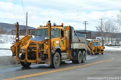 NYS DOT Mack GU713 Plow Trucks (Trucks, Buses, & Trains by granitefan713) Tags: plowtruck snowplow dumptruck dualwing wingplow dot nysdot newyorkstate departmentoftransportation heavyduty sander salttruck snowremoval mack macktruck mackgranite granite mackgu713 gu713 tandem tandemaxle