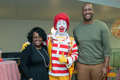 Tanya Jones with Ronald McDonald and Tyrone Shealy (UTHealth) Tags: ronald mcdonald care mobile uthealth school dentistry houston texas children health dental