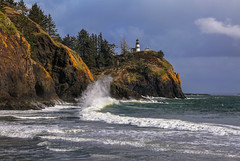 Sea Spray at Cape Disappointment (Cole Chase Photography) Tags: lighthouse capedisappointment washington pacificnorthwest