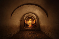 Ave Phoenix II (Antonio Martínez Tomás) Tags: lightpainting pinturadeluz avephoenix seresmitológicos bodegacueva casacueva arco fuego pájarodefuego contraluz iluminación iluminacióninterior