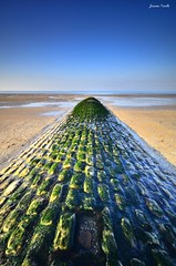 Green causeway to sea (Explore 12-04-2017) (jaume vaello) Tags: nikond5100 nikon sigma1020 kenko kenkond400 leefilters leend06 longexposure largaexposición francia bretañafrancesa jaumevaello espigon verde explore