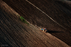 Mother Earth (Collin Key) Tags: buchholz schleswigholstein deutschland de aerialphotograph farming brown nature tractor field earth