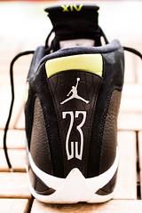 Retro 14s (adamkrpec) Tags: retro sneakers shoes basketball sport 23 jumpman jordan air details canon green black