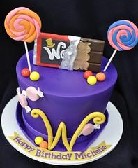 Wonka hat birthday cake (jennywenny) Tags: birthday cake golden ticket candy chocolate factory