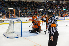 "Missouri Mavericks vs. Wichita Thunder, March 25, 2017, Silverstein Eye Centers Arena, Independence, Missouri.  Photo: © John Howe / Howe Creative Photography, all rights reserved 2017. • <a style=""font-size:0.8em;"" href=""http://www.flickr.com/photos/134016632@N02/33659860956/"" target=""_blank"">View on Flickr</a>"