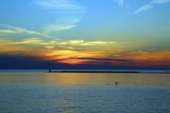 Sunset (Joanna Kurowski Photography) Tags: sunset lake sky lakehuron goderichontario canon skyline landscape canada scenery water clouds cloudporn joannakphotos blue yellow orange