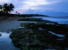 Ho'okipa beach (pabs35) Tags: hawaii maui hookipabeachpark dusk ocean beach waves paradise film believeinfilm mediumformat 120 fujifilm fuji fujichrome velvia velvia50 rvp50 mamiya m645 1000s mamiyam6451000s