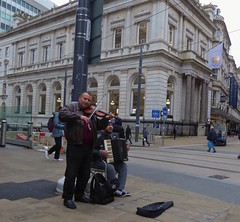 Sounds from the City (metrogogo) Tags: musicians violin violinist accordion applestore birmingham birminghamuk duo music fiddle newst city citycentre citycenter birminghamsbuskers streetmusicians streetperformers