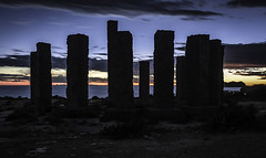 Sunset on the monoliths (ibzsierra) Tags: ibiza eivissa baleares canon 7d monolito cielo azul blue sky nube cloud sunset contraluz