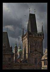 Praha XXXXVIII (Emilio Casini) Tags: prague praga praha karlůvmost czechrepublic clouds nuvole architettura pontecarlo architecture città europe europa city ngc nikonpassion nikon passion