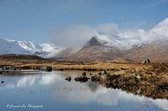 The Pull Of The Mountain (jeanette_lea) Tags: scotland highlands lochan na stainge black mount snow mountains light reflections water rocks