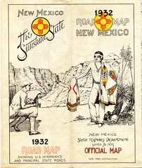 New Mexico - State Highway Map - 1932 (tonopah06) Tags: newmexico nm roadmap highwaymap statehighwaydepartment highway road map 1932 old thesunshinestate paper ephemera