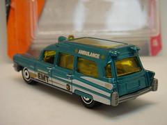 MATCHBOX 1963 CADILLAC AMBULANCE NO12 BEVERLYHOOD EMT 1/64 (ambassador84 OVER 8 MILLION VIEWS. :-)) Tags: 63 cadillac ambulance diecast
