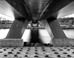 3rd Don Crossing, Aberdeen (PeskyMesky) Tags: aberdeen 3rddoncrossing scotland flickr monochrome blackandwhite bw pov pointofview le longexposure