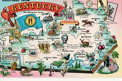 Greetings from Kentucky (Liz Pidgeon) Tags: postcard kentucky mapcard greetingsfrom