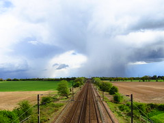 Storm Over The East Coast Main Line (Gary Chatterton 3 million Views Thank You All) Tags: stormcell storm rain eastcoastmainline railway networkrail westlaneburn burn selby northyorkshire flickr exploreintrestingness railroad