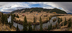 Along the Rio Grande (Whitney Lake) Tags: stitched pines firs rockymountains rockies clouds mountains prairie colorado riogranderiver panorama pano landscape