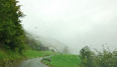 Slovenia - rainy, foggy mountain road (stevelamb007) Tags: slovenia mountain road stevelamb weather rain nikon d70s tamron 1116mmf28 wideangle fog