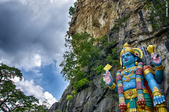 The preserver and protector - Lord Vishnu (LazyKC) Tags: god hindu colour vishnu lord day d7000 nikon blue chakra mountain malaysia clouds india mythology