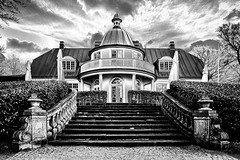 Stormy weather (MacCabri) Tags: blackandwhite monochrome architecture clouds storm bw stairs denmark