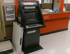 Pushing another cool old relic out the door, just prior to the remodel (l_dawg2000) Tags: 1970s departmentstore discountcity discountstore iuka mississippi ms old retail small store tiny vintage walmart unitedstates usa