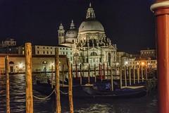 Santa Maria della Salute a Venezia (gianmaria.colognese) Tags: chiesa cupola church notturno canalgrande venezia gondole acqua water