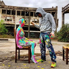 Working on a clip for my next music track Je bosse sur un clip pour ma prochaine chanson #fleshandacrylic #painting #art #benheine #benheineart #music #benheinemusic #clip #peinture #model #abstrait #abstract #abstraction #mannequin #bodypainting #colors (Ben Heine) Tags: benheinephotography photography composition light smartphone nature landscape beauty beautiful photo photographie art ifttt instagram benheine horizon benheineart fleshandacrylic painting music benheinemusic clip peinture model abstrait abstract abstraction mannequin bodypainting colors