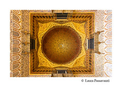 Real Alcazar in Seville, Andalusia (laura passavanti) Tags: real alcazar seville andalusia spain landmark attraction famous santacruz palaceroyal almohad mudejar architecture moorish decorated construction monument ambassadors room roof cupola wood gold