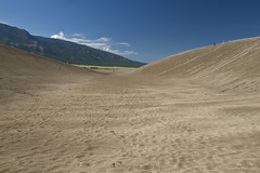 Valley in the Sand (brucetopher) Tags: dune great sand dunes sanddunes greatsanddunes us nationalpark usa park parks parksservice summer touring tourism travel visit hike traveling vacation holiday alamosa colorado valley view vista tunnel pipe halfpipe