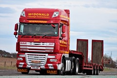McDonald Haulage Contractors Invergordon DAF XF YX11 XNF (Kilmachalmag) Tags: rosskeen scaffold steptrailer lowloader dafxf a9 alness alnesspoint