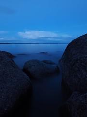 Constellation (Jarno Nurminen) Tags: seascape night finland porvoo emäsalo balticsea water rocks bluehour longexposure