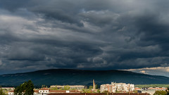 Storm in the city (Milen Mladenov) Tags: 2017 bulgaria montana pastrina pustrina blue city clouds green grey sky storm stormclouds view white yellow
