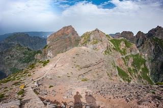 Der Weg vom Pico do Arieiro zum Pico Ruivo