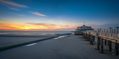 Belgium Pier at Blankenberge (Toon E) Tags: 2017 belgium belgie blankenberge pier beach coast sony 7rm2 zeiss sonyfe1635mmf4 outdoors sunset