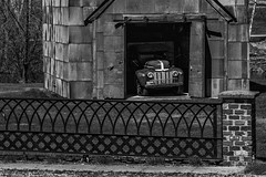 Open Door Policy-2 (m clark1) Tags: minnesota truck shed bw blackandwhite