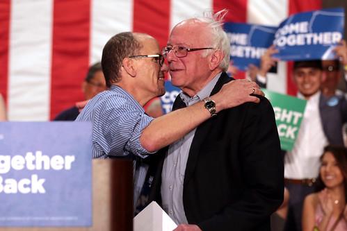 Tom Perez & Bernie Sanders by Gage Skidmore, on Flickr