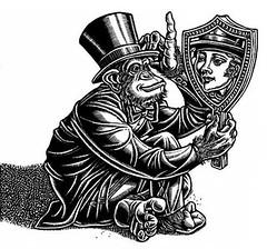 """Pride"" (Seven Deadly Sins) (Lisa Haney) Tags: ape blackandwhite ego egomaniac hubris illustration lisahaney mirror chimp chimpanzee monkey primate pride prideful proud self smug tophat narcissist narcissism"