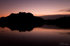 Roquebrune (Tristan K.) Tags: dusk sunset nightfall twilight evening lake mountain panorama landscape reflections light shadow silhouette backlight roquebrune roquebrunesurargens rocherderoquebrune var provence paca cotedazur