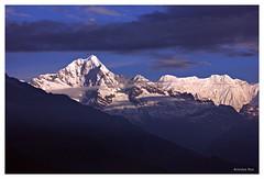 Forked peak and Kabru IV,Manul,Sikkim (Anindya_Doordarshan) Tags: himalaya snow summit sikkim sunrise forked peak kabru kangchenjunga kanchanjungha kanchenjungha manul landscape nature canon travel india ngc cloud mountain