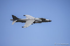 Harrier jump jet (calkothrade2) Tags: jetplane jet harrierjumpjet vtol vstol fighterjet bluesky clouds