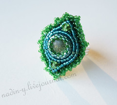 "Ring ""The music of the Forest"" (NadinYa) Tags: ring gems emerald"