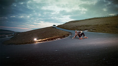 Doug - Longboarding at the Needles (Martin Allen Photography) Tags: skateboarding needles isle wight iow longboarding