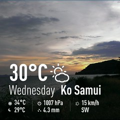 Koh Samui Weather 22May 2013 (soma-samui.com) Tags: travel weather thailand island asia resort samui koh          tourguidesoma soma  somasamuicom