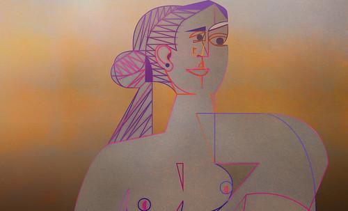 "Mujer Sentada, geometrización de Pablo Picasso (1953), abstracción de Roberto Real de León (2013). • <a style=""font-size:0.8em;"" href=""http://www.flickr.com/photos/30735181@N00/8805348729/"" target=""_blank"">View on Flickr</a>"