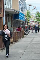 sugar spun memory (bytegirl24) Tags: nyc newyorkcity fair sidewalk queens astoria ferriswheel cottoncandy