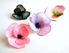 Watercolor Paper Flowers (all things paper) Tags: caketopper paperflowers papersculpture paintedflowers watercolorflowers