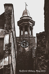 Old Postcard Style (Nifty_Shoes) Tags: tower clock abbey clocktower nottinghamshire notts ruffordpark ruffordabbey